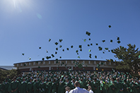 Class of 2017 throwing caps in the air